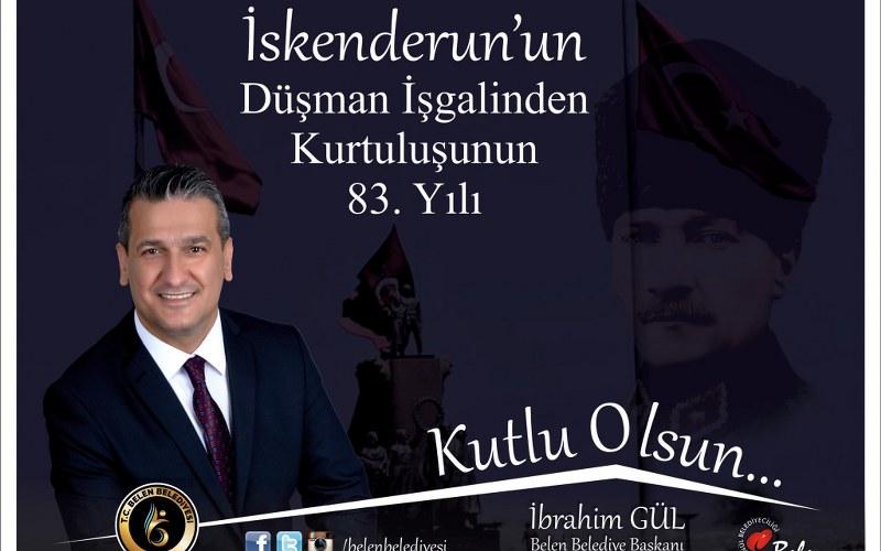 Belen Belediye Başkanı Gül'den 5 Temmuz Kutlama Mesajı
